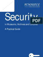 Security in Museums, Archives and Libraries