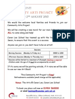 Community Arts Project Leaflet 2013