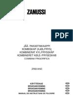Manual de Utilizare Zanussi