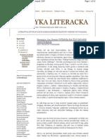 Krytyka Literacka 2009