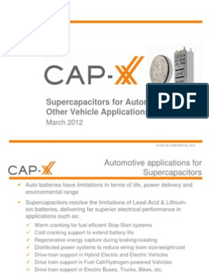 CAP-XX - Supercapacitors for Automotive Applications
