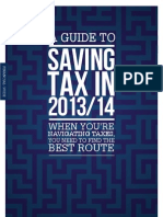 A Guide To Saving Tax In 2013/14