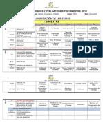 Matriz de Contenidos y Evaluaciones Por Bimestre A
