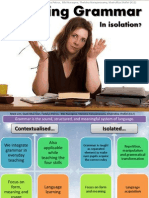 Teaching Grammar Isolation or in Context