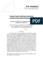 Testing Fractal Coefficients Sensitivity