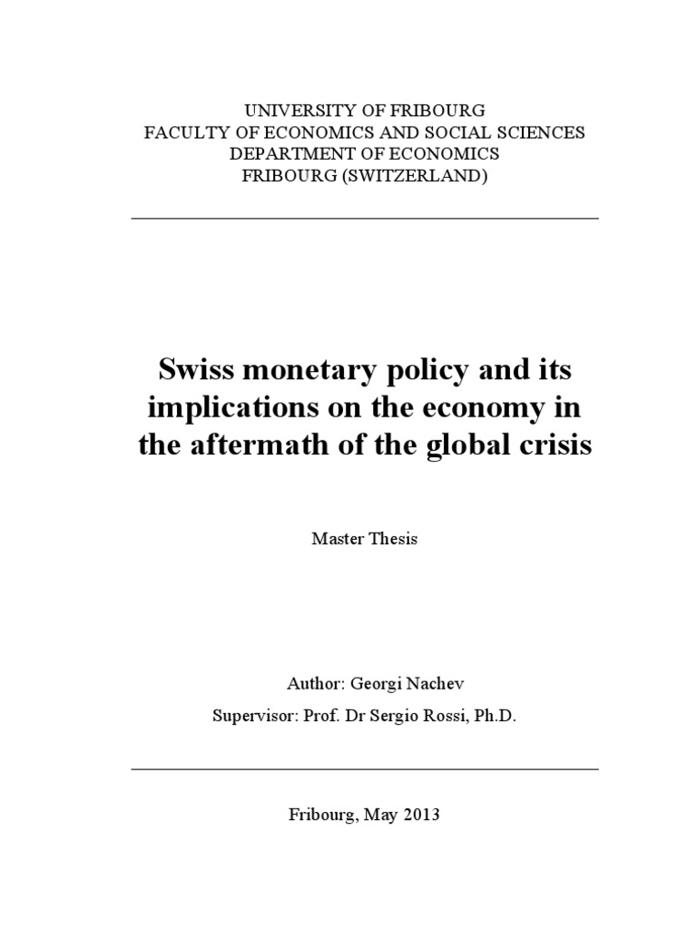 Master thesis in financial crisis