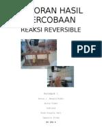 reaksi reversible