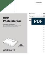 Sony HDD photo storage manual
