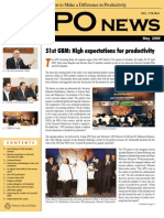 Monthly newsletter of the Asian Productivity Organization, May 2009 issue