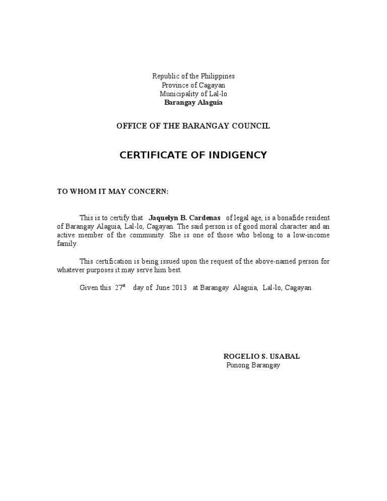 Barangay certificate spiritdancerdesigns Choice Image