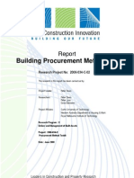 Report - Building Procurement Methods