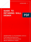 Guide to Retaining Wall Design