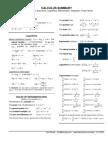 Calculus Summary