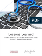 Policy Report Lessons Learned