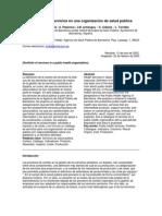 La cartera de servicios en una organización de salud pública