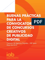 IAB Spain Buenas Prcticas Convocatoria Concursos Mayo2010