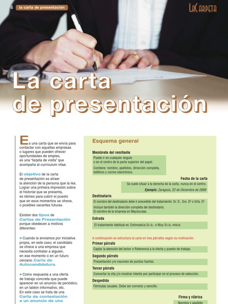 La Carpeta 150 Carta Presentacion
