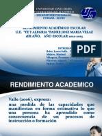 Rendimiento Estudiantil Fe y Alegria Cumana Estado Sucre