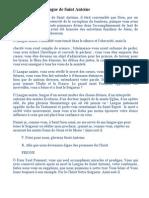 Invocations à la Langue de Saint Antoine