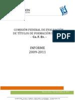 COFEV-Informe-2009-2011 Sobre Homolog de Titulos Terciarios