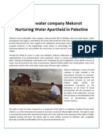Mekorot Factsheet - Water Apartheid in Palestine
