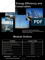 energy efficiency and conservation - Week 01