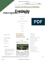 Preservação, agricultura e a demanda social ap