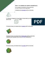 EJERCICIOS DE AREAS Y VOLUMENES DE CUERPOS GEOMÉTRICOS (1)
