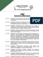 Municipal ORDINANCE (Pateros) 1988 2006
