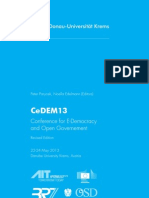 Proceedings of the Conference for E-Democracy and Open Governement 2013 (CeDEM13)