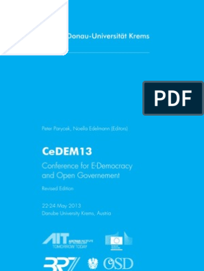 Proceedings of the Conference for E-Democracy and Open