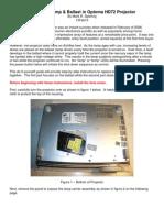 OPTOMA HD72 Replacing Lamp
