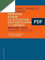 Consejo Econ Memoria Socio Economica 2012 Resumen Ejecutivo