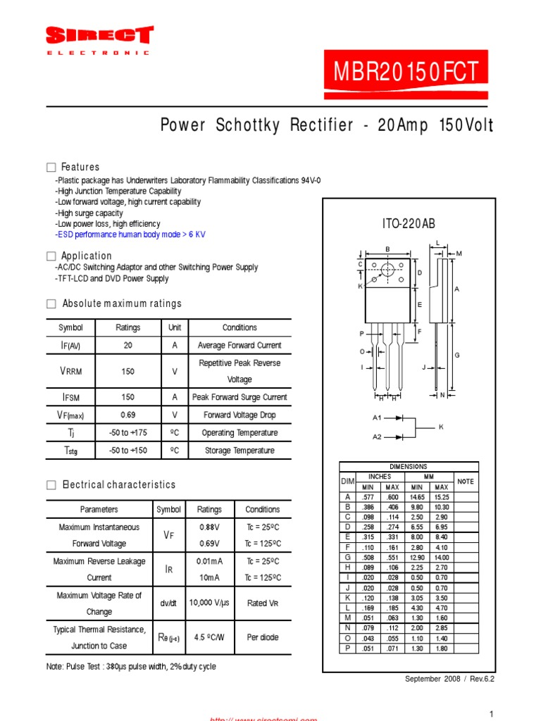 Mbr20150fct Computer Engineering Components Dt830d Digital Multimeter Circuit Diagram