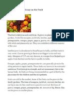 Essay on Fruits
