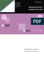 ADMINISTRACIÓN ELECTORAL Y CONSOLIDACIÓN DEMOCRÁTICA