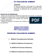 Cálculo de las reservas de un yacimiento (Cálculo)