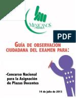 Guía de Observador - Mexicanos Primero 2013