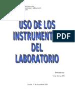 uso de los instrumentos de laboratorio