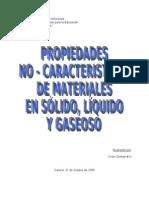 propiedades no caracteristicas de los materiales