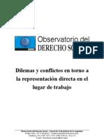 ODS CTA - Dilemas y Conflictos en Torno a La Representacion Directa en El Lugar de Trabajo
