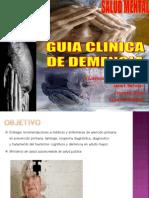 Guía clínica demencia mmm