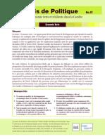 Précis de Politique No. 13 - Vers une economie verte et résiliente dans la Caraïbe