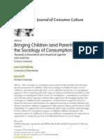 Children Sociology Consumption Southerton