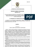 Decreto 3249 de 2006