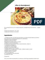 Tarta de Alcauciles (o Berenjenas)