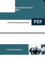 1.Intro to Packet Voice Technologies