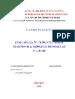 Evaluarea in Invatamantul Primar Traditional si Modern in Metodele de Evaluare.doc