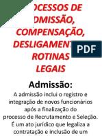Departamento Pessoal Processos