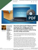 Windows Backup Tips Manual